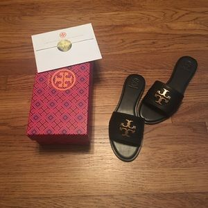 Tory Burch Everly Slide Black Size 7.5 New